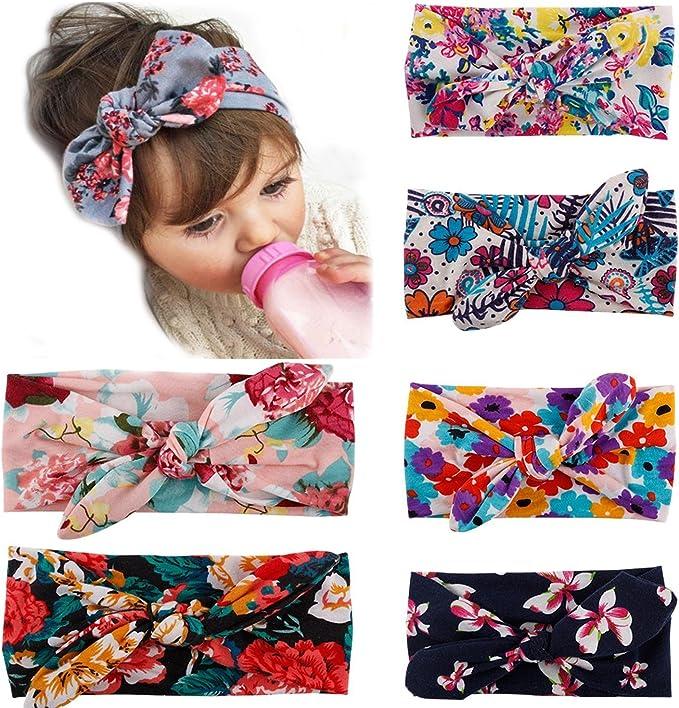 Baby Girl Kids Headband Headwrap Knotted Bow Turban Hair Band Headdress A11CA