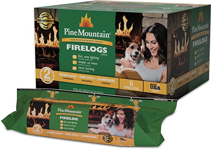 4152501471 Indoor /& Outdoor Use Jarden Pine Mountain Java-Log Recycled Coffee Grounds Firelogs Fire Pit 4 Logs 4 Hour Burn Time Fireplace Long Burning Firelog for Campfire
