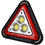 Wolfteeth Warning Triangle LED Work Light Car Road Emergency Lamp USB Rechargeable 4 Modes
