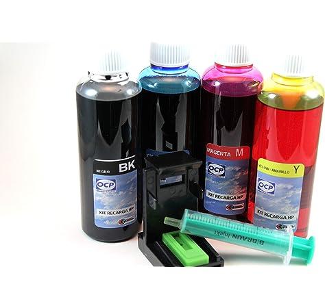 62 Kit DE Recarga DE Tinta para Cartuchos HP Modelos Nº:62-662-650-651-678 Negro y Tricolor: Amazon.es: Oficina y papelería