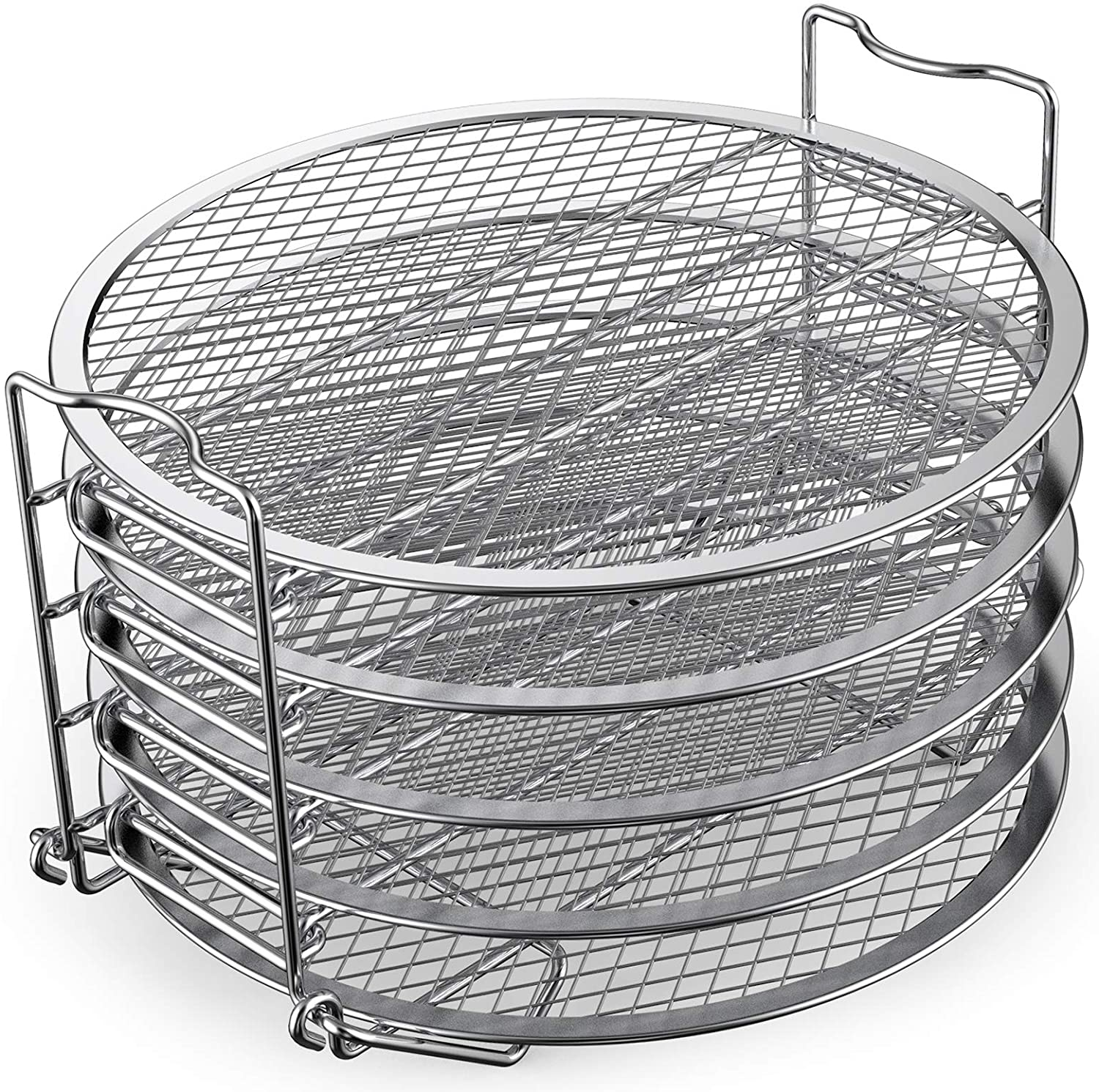 Dehydrator Rack Stainless Steel Stand Accessories Compatible with Ninja Foodi Pressure Cooker and Air Fryer 6.5 and 8 Qt, Instant Pot Duo Crisp 8 Qt,By Sicheer