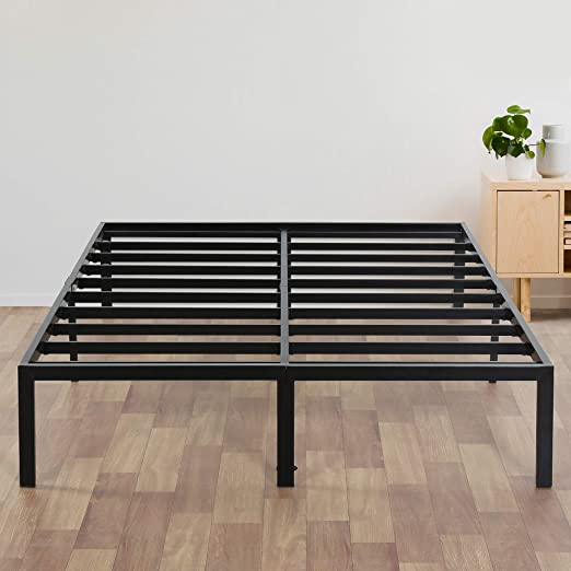 Amazon.com: Olee Sleep 14 Inch Heavy Duty Steel Slat/ Anti-slip Support/  Easy Assembly/ Mattress Foundation/ Bed Frame/ Noise Free/ No Box Spring  Needed, Queen: Furniture & Decor