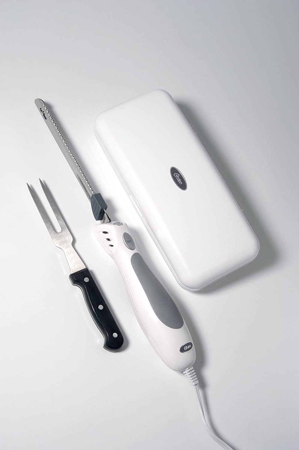 Oster 2803 Inspire Electric Knife with Bonus Carving Fork, White
