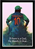 Sachin Tendulkar Framed Poster   Cricket Motivational Poster (Wood 12X8 Inches 300GSM Poster Quality) From Interio Crafts