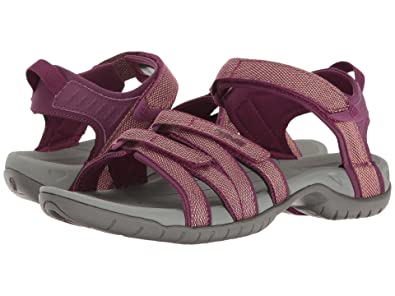 b3e80fe2a1cb Teva Women s W Tirra Sandal - Zaca Dark Purple Gold Size 9  Amazon.in  Shoes    Handbags
