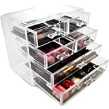 Sorbus® Acrylic Cosmetics Makeup and Jewelry Storage Case Display- 2 Large and 4 Small Drawers Space- Saving, Stylish Acrylic Bathroom Case