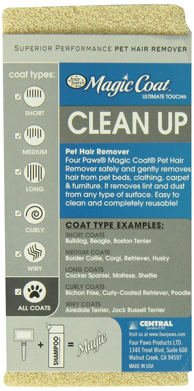 Four Paws MAGIC COAT ESPONJA REMOVEDORA DE PELO: Amazon.com.mx: Mascotas