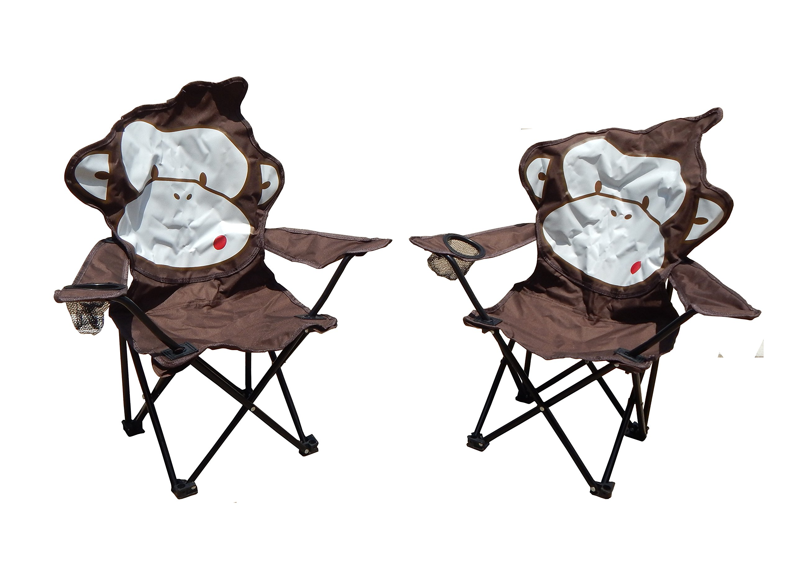 Folding Kids Camping Chairs in Animal Designs by J&Y Home & Garden (Set of 2) by MAOS (Image #5)