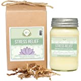 Aira Soy Candles - Organic, Kosher, Vegan, in Mason Jar w/ Therapeutic Grade Essential Oil Blends - Hand-poured 100% Soy Candle Wax - Paraffin Free, Burns 110+ Hours -Relaxing Stress Relief -16 Ounces