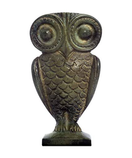 Owl Of Athena Minerva Bronze Statue Amazon Co Uk Kitchen