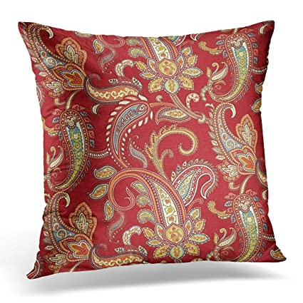 Amazon TORASS Throw Pillow Cover Vintage Leather Red And Gold Classy Red And Gold Decorative Pillows