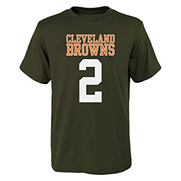 18ed7c19655d NFL Cleveland Browns Johnny Manziel Youth Boys 4-20 Name and Number Tee,  Brown