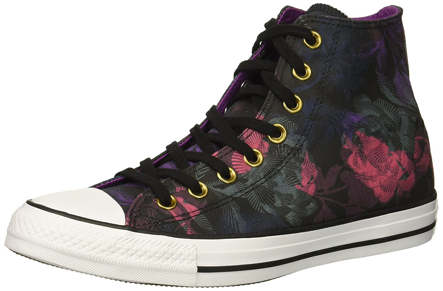 Converse Women's Chuck Taylor All Star Floral Print High Top Sneaker B07CR9JB3J 5.5 B(M) US|Black/Pink Pop/White