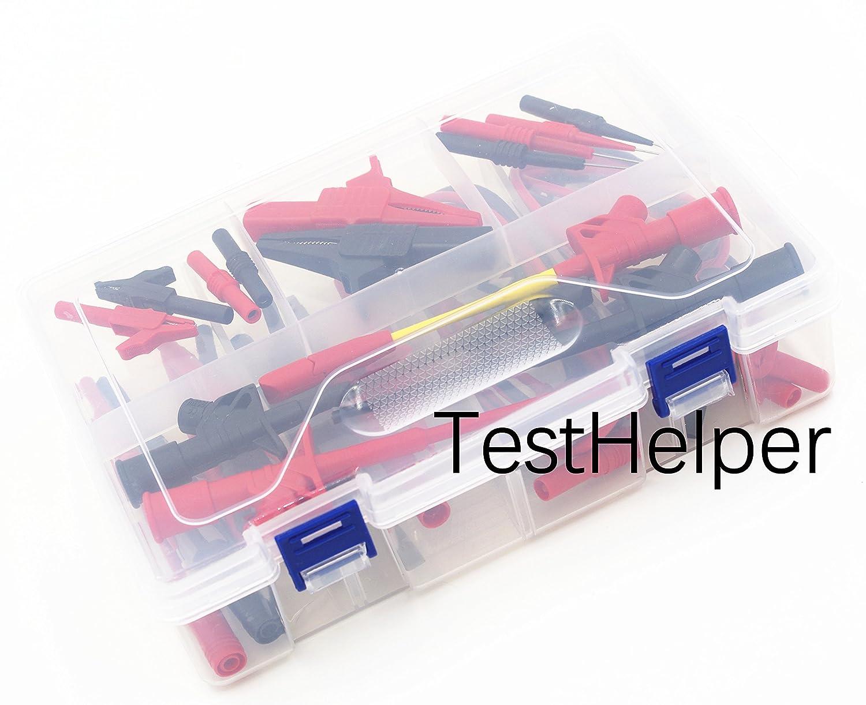 TestHelper TH-16-KIT Whole Set Multimeter Test Lead Kits Set Essential Automotive Electronic Connectors Cables Hand Tool Battery Tester Auto Diagnostic Tools