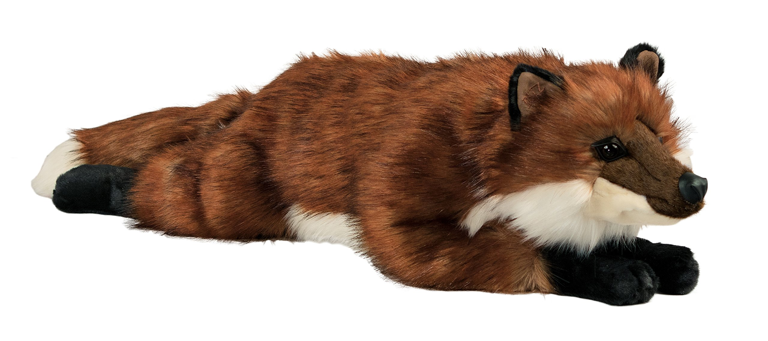 Ditz Designs Red Fox Stuffed Animal 32'' Woodland Plush Pillow Sitting Hug