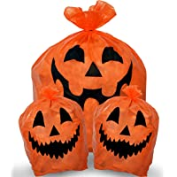 Amazon Price History for:Skeleteen Pumpkin Leaf Bags Decorations - Jack O Lantern Outdoor Yard Fall Lawn and Leaves Pumpkins Decorating Bag with…