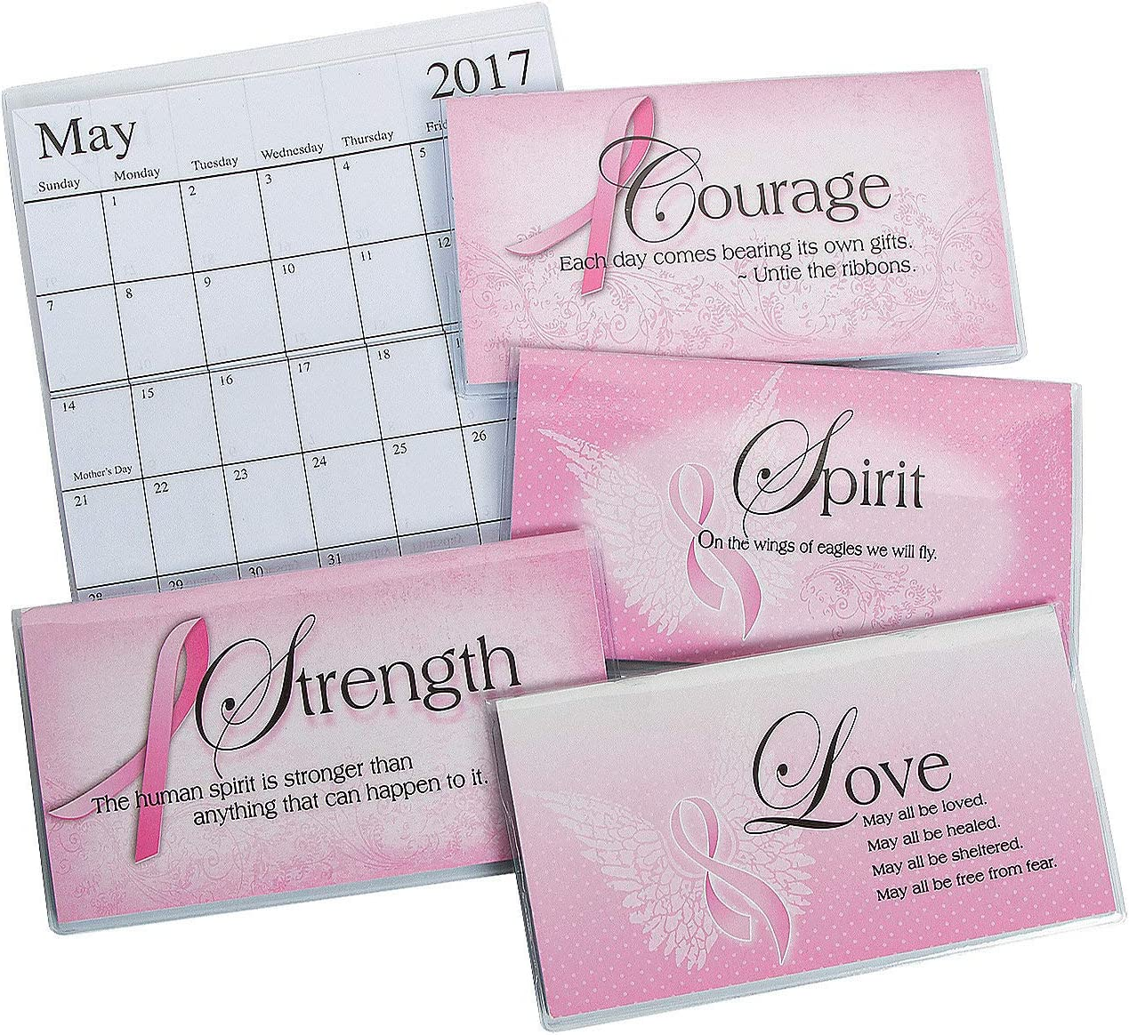 Fun Express - 2017-2018 Pink Ribbon Pocket Planner - Stationery - Calendars - Pocket Planners - 12 Pieces