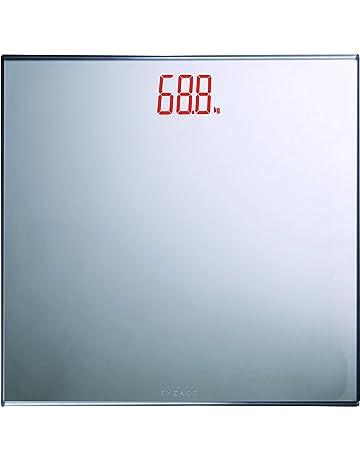 EXZACT Báscula Corporal Electrónica/Báscula de Baño Digital-150kg Exhibición del LED de la