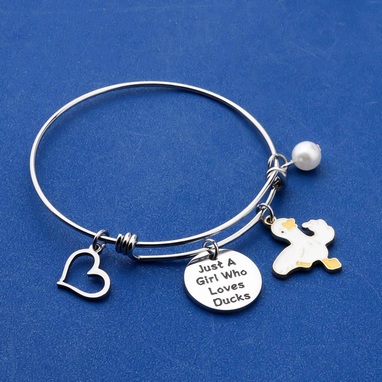 FAADBUK Funny Ducks Bracelet Animal Lover Gift Just A Girl Who Loves Ducks Jewelry Bracelet Ducks Lover Gift Ducks Jewelry
