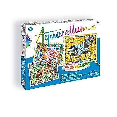 Sentosphere Aquarellum - Horses Magic Art Canvases: Toys & Games