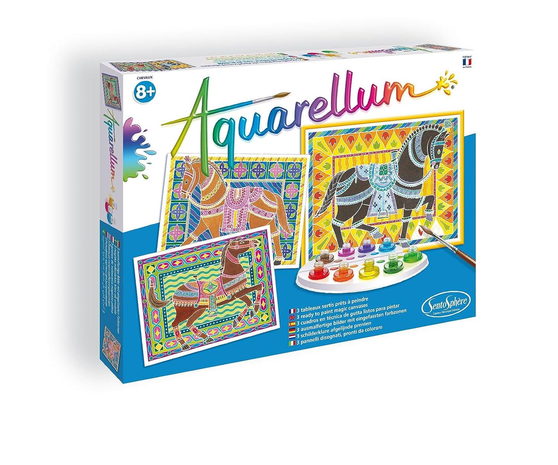 Distrifun (Sento) - Loisirs créatifs - Aquarellum Chevaux 3906090