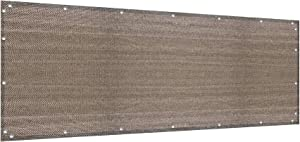 Alion Home Elegant Privacy Screen for Backyard Fence, Pool, Deck, Patio, Balcony, Outdoor Paneling and Outdoor Screening- Include Zip Ties (3 x 12 FT, Walnut)