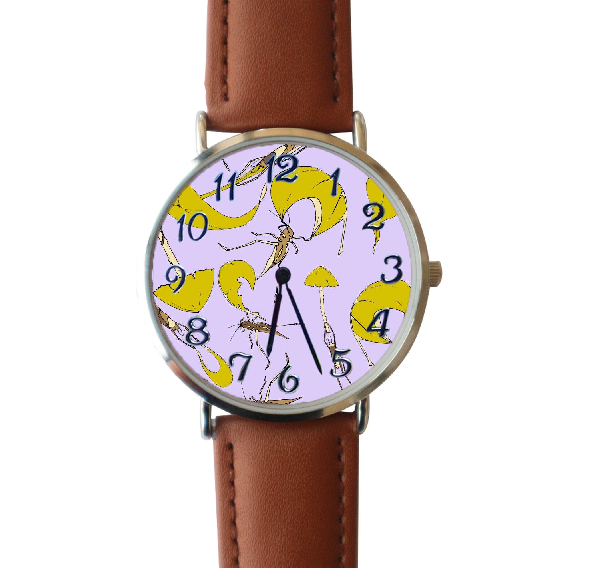 JISJJCKJSX Grasshopper custom watches quartz watch stainless steel case