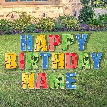 amazon com custom happy birthday yard sign happy birthday letters