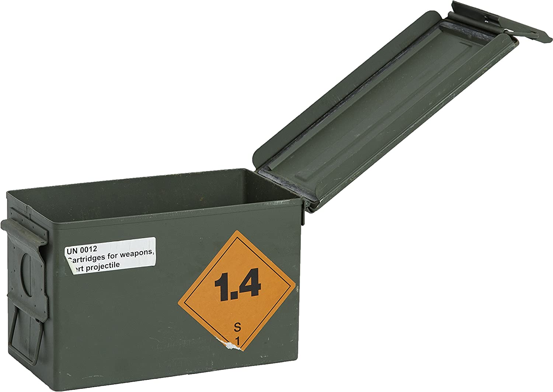 Caja de municiones API Caja de almacenamiento ca 30,5x19x15,50cm diseño Militar caja de munición de caja en forma de caja de madera caja de madera para botella de vino Caja de manzana