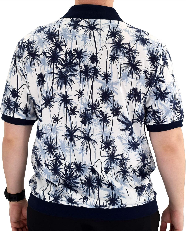 6190-325BT Big and Tall Classics by Palmland Short Sleeve Polo Shirt Navy