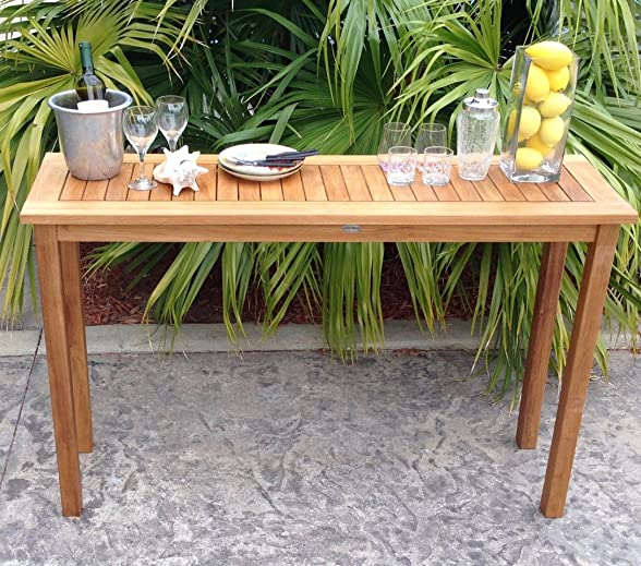 Teak Santa Monica Outdoor Patio Serving Table