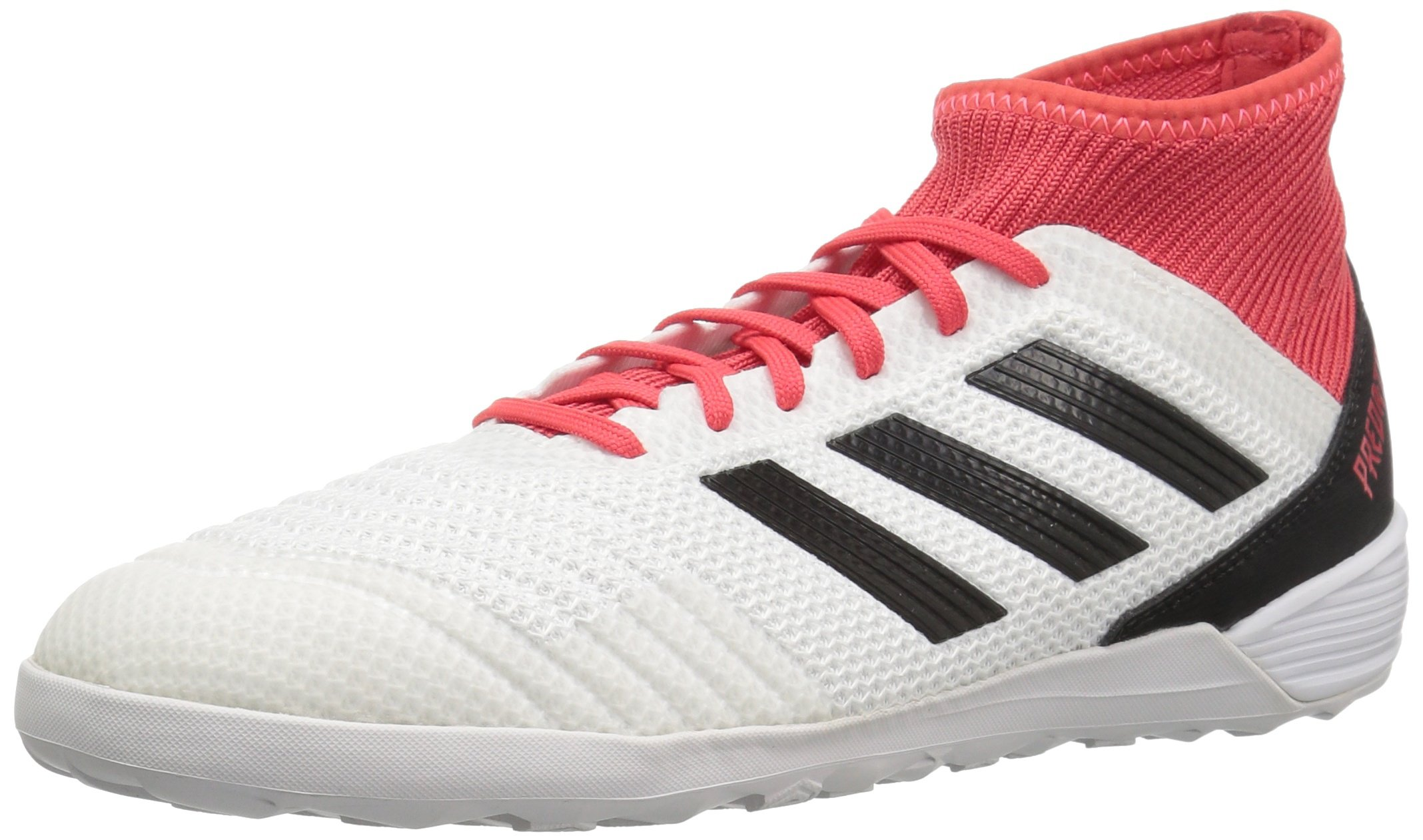 adidas Unisex-Mens Ace Tango 18.3 in, White/Core Black/Real Coral, 10.5 M US