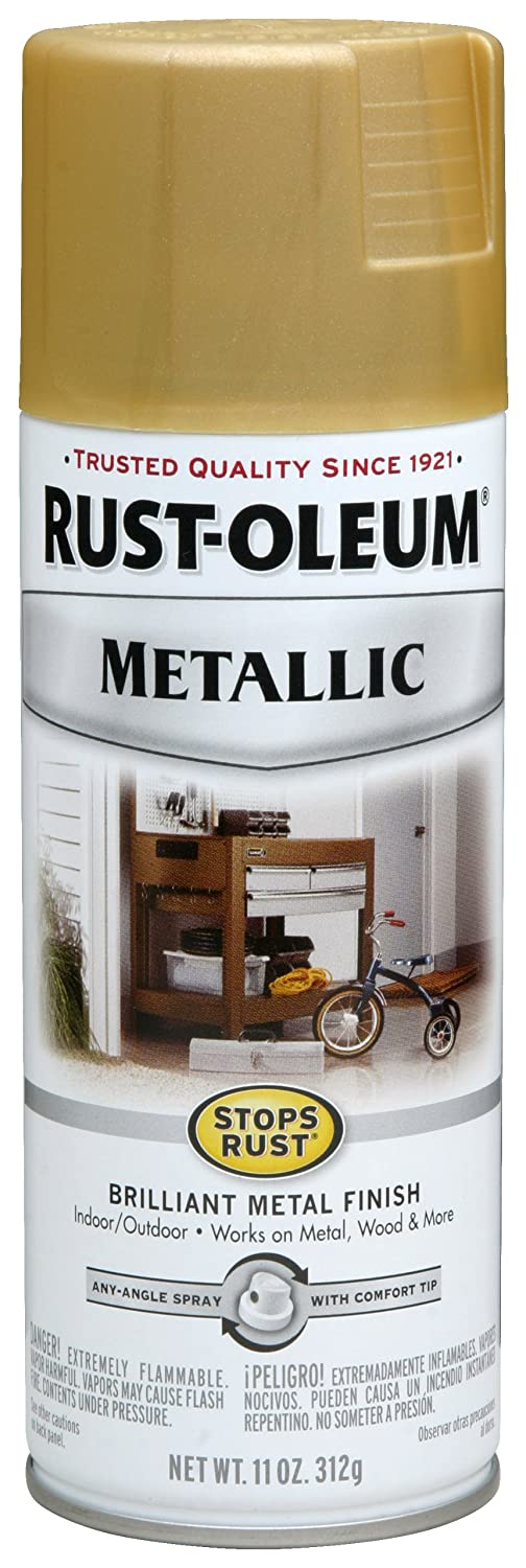 Rustoleum Spray Paint Colors For Metal Part - 39: Amazon.com: Rust-Oleum 7270830 Metallic Spray, Gold Rush, 11-Ounce: Home  Improvement