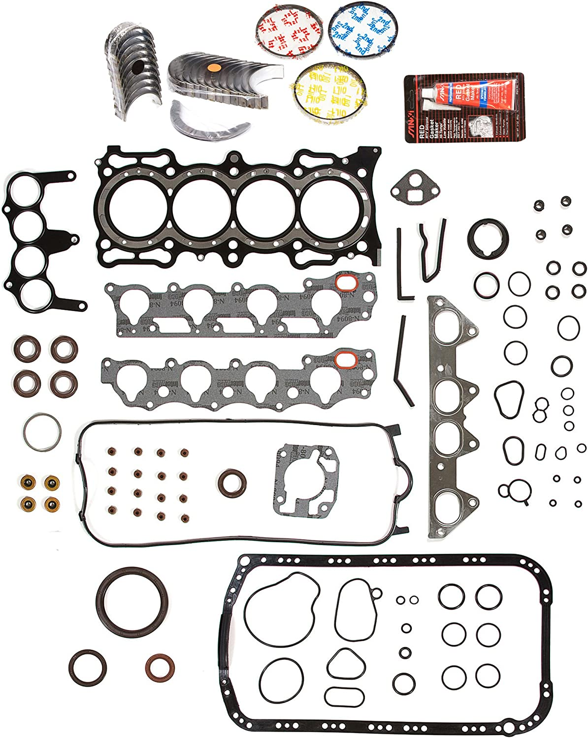 OK4010M//0//0//0 98-02 Acura CL Honda Accord Vtec 2.3L SOHC F23A1 F23A4 F23A5 F23A7 Master Overhaul Engine Rebuild Kit