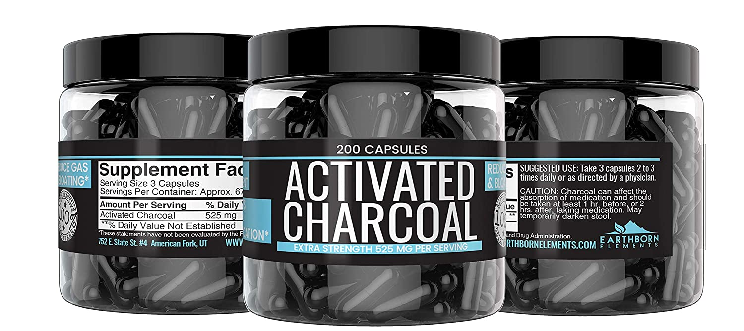 Awe Inspiring Activated Charcoal Capsules 200 Capsules 400 Mg By Earthborn Elements Helps Reduce Gas Short Links Chair Design For Home Short Linksinfo