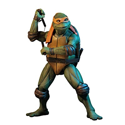 NECA - Teenage Mutant Ninja Turtles (1990 Movie) - 1/4 scale action figure - Michelangelo: Toys & Games