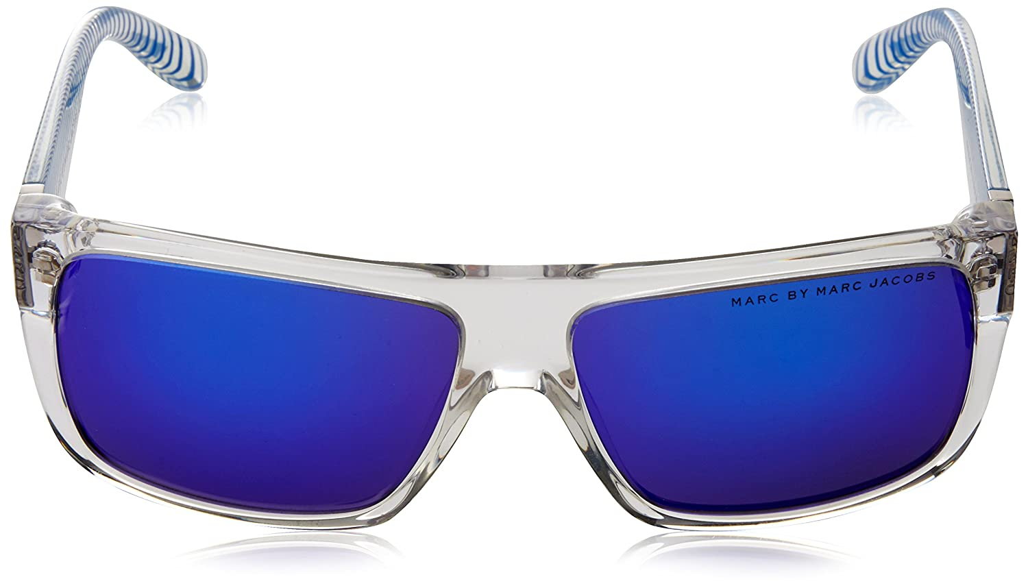0900625af336 Amazon.com: Marc by Marc Jacobs 250607W7B57Z0 MMJ 096-N-S W7B Z0  Translucent Crystal Blue Sunglasses: Clothing