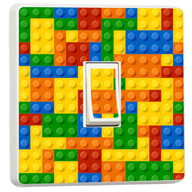 3D building blocks toy bricks light switch sticker cover (12345617) wmoltdTM