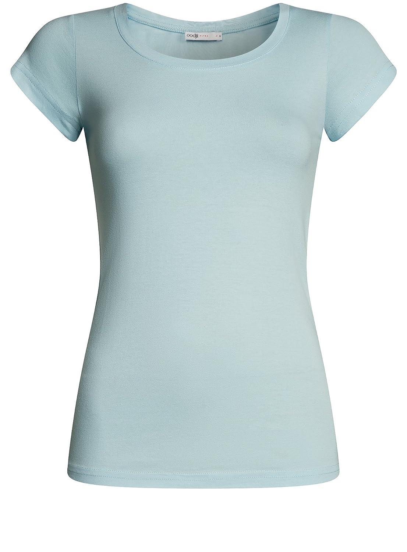 oodji Ultra Donna T-Shirt Basic in Cotone