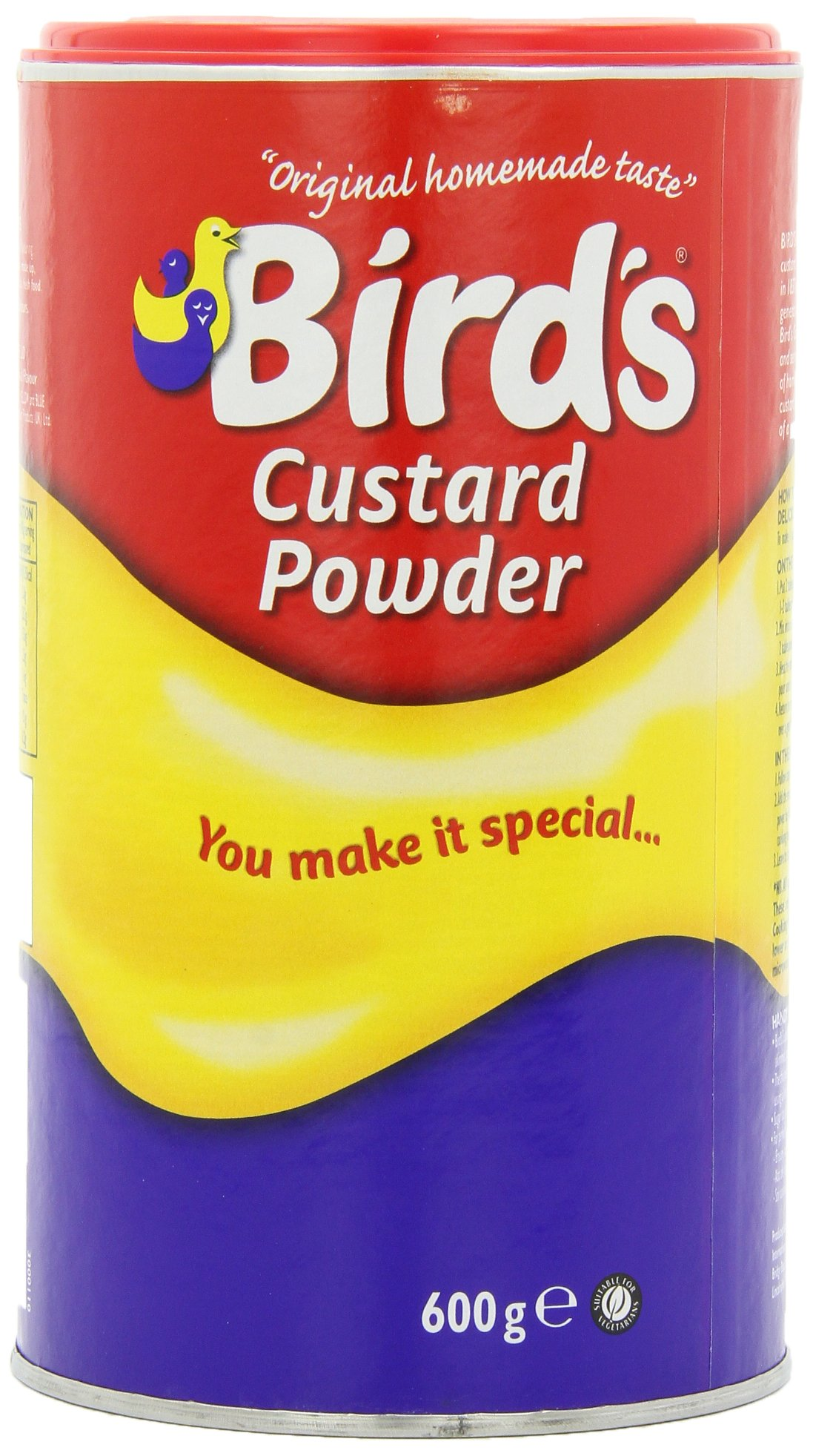 Bird's Custard Powder, 600g  Canisters (Pack of 4) by Kraft
