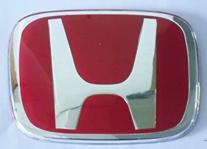 Amazoncom JDM HONDA Red H REAR Emblem Badge Acura Integra RSX Dc - Red acura emblem