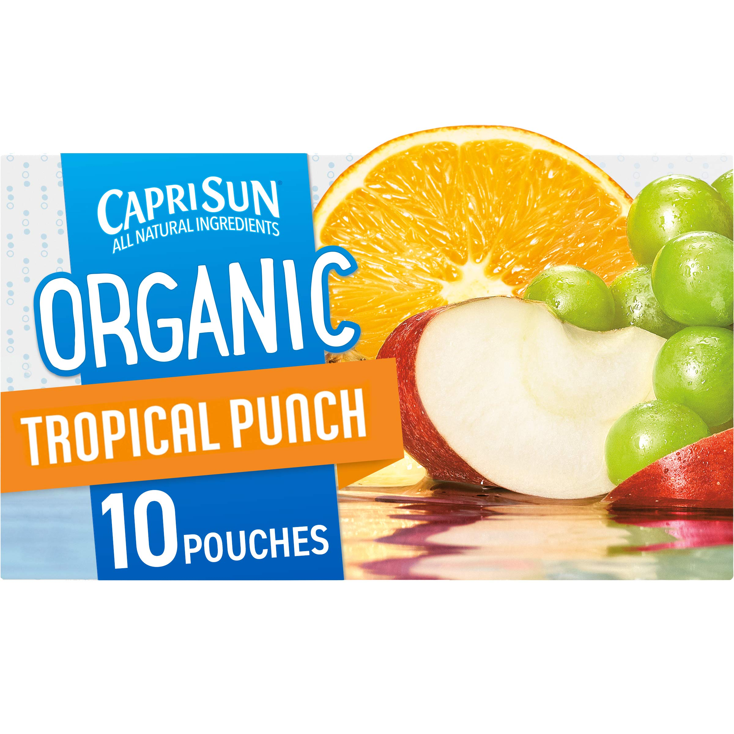 Capri Sun Organic Tropical Punch Ready-to-Drink Juice (10 Pouches)