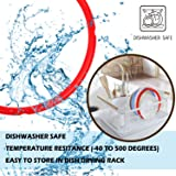 Silicone Sealing Rings for Instant Pot Accessories, Fits 5 or 6 Quart Models, Red, Blue and Common Transparent White, Sweet and Savory Edition, 3 Pack BPA-Free Food-grade Silicone Gaskets for Instpot