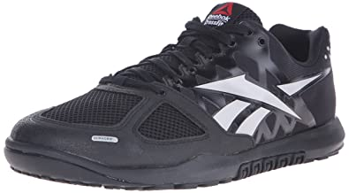 3c69a49c568336 Reebok Mens CrossFit Nano 2.0 Black-Zinc Grey Athletic Shoes