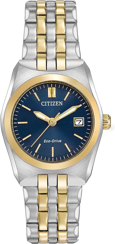 Citizen Corso de la Mujer Reloj de Cuarzo con Esfera Analógica Azul Pantalla y Plata Pulsera de Acero Inoxidable ew2294–53L–