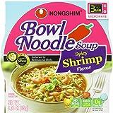 NongShim Bowl Noodle Soup, Spicy Shrimp, 3.03 Ounce (Pack of 12)