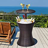 Happygrill Outdoor Cool Bar Rattan Patio Cool...