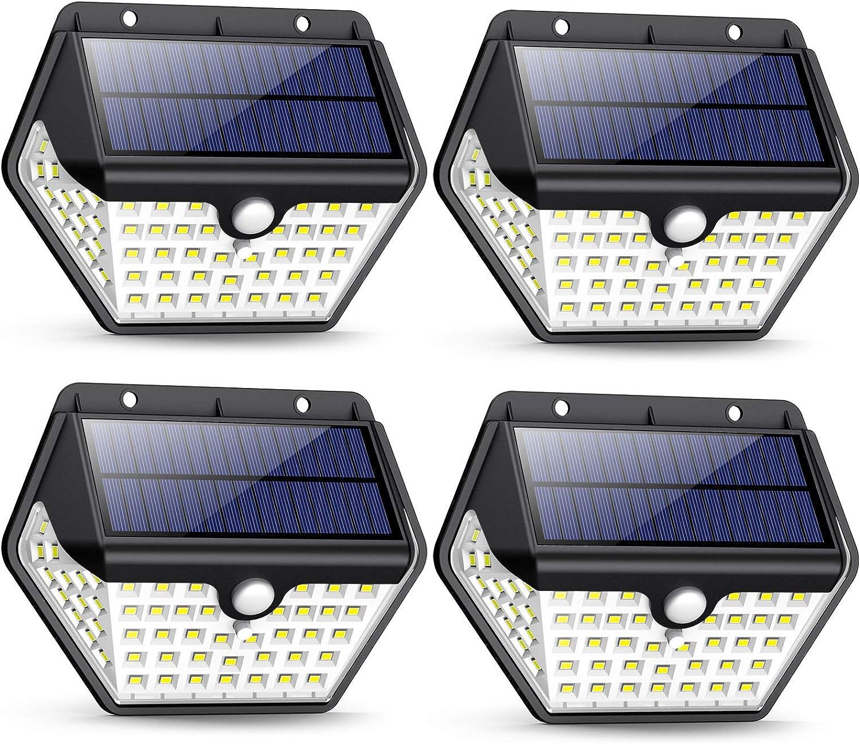 Luz Solar Exterior, [2019 Más Nuevo Modelo 60 LED - 800 Lumens ...