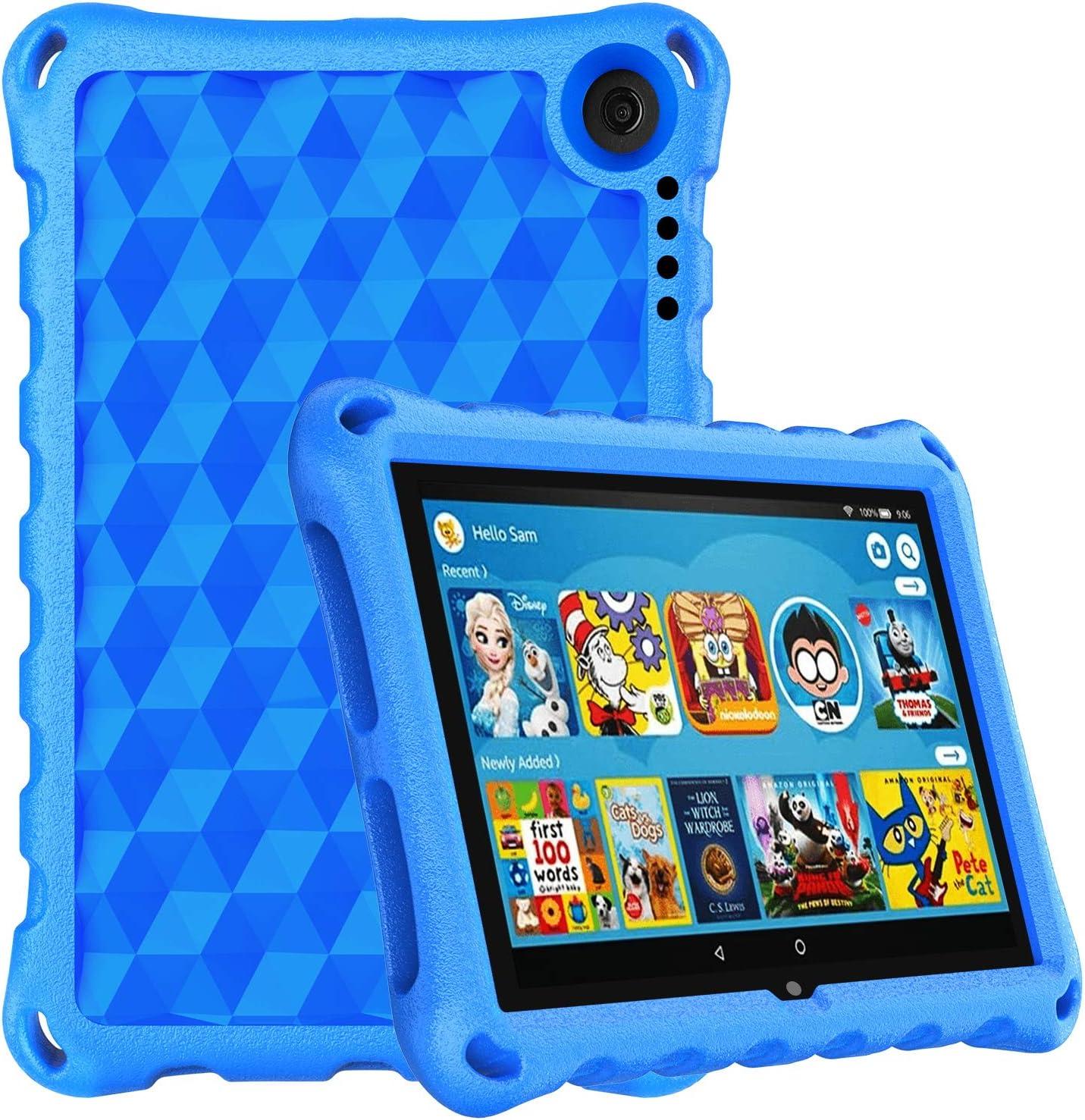 Amazon Com Fire Hd 8 2020 Case Fire Hd 8 Plus Tablet Case 10th Generation 2020 Release Dihines Lightweight Kids Proof Case For Amazon Kindle Fire Hd 8 Tablet Fire Hd 8 Plus Blue Computers Accessories