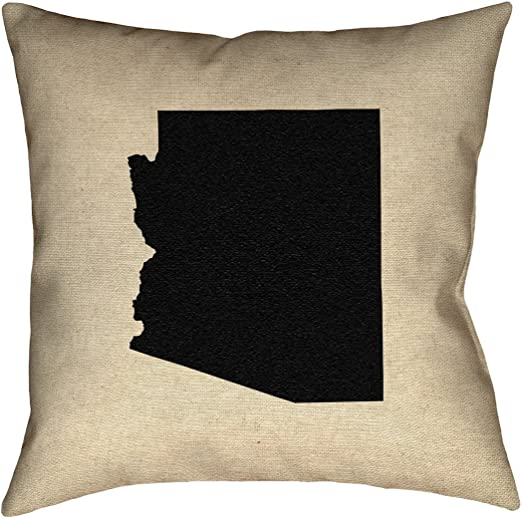 ArtVerse Katelyn Smith 14 x 14 Poly Twill Double Sided Print with Concealed Zipper /& Insert Arkansas Pillow